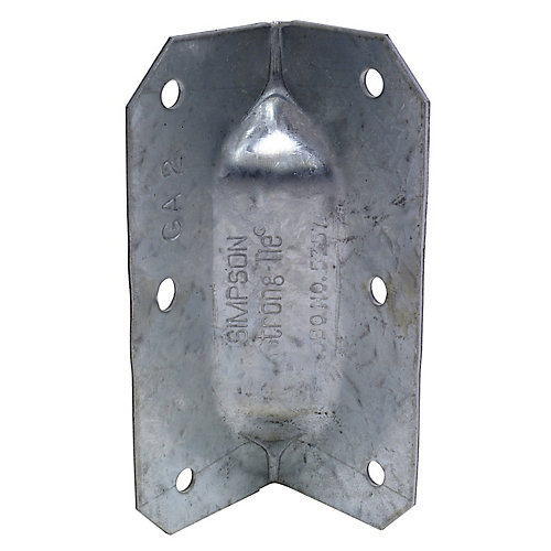 GA 3-1/4 inch 18-Gauge Galvanized Gusset Angle