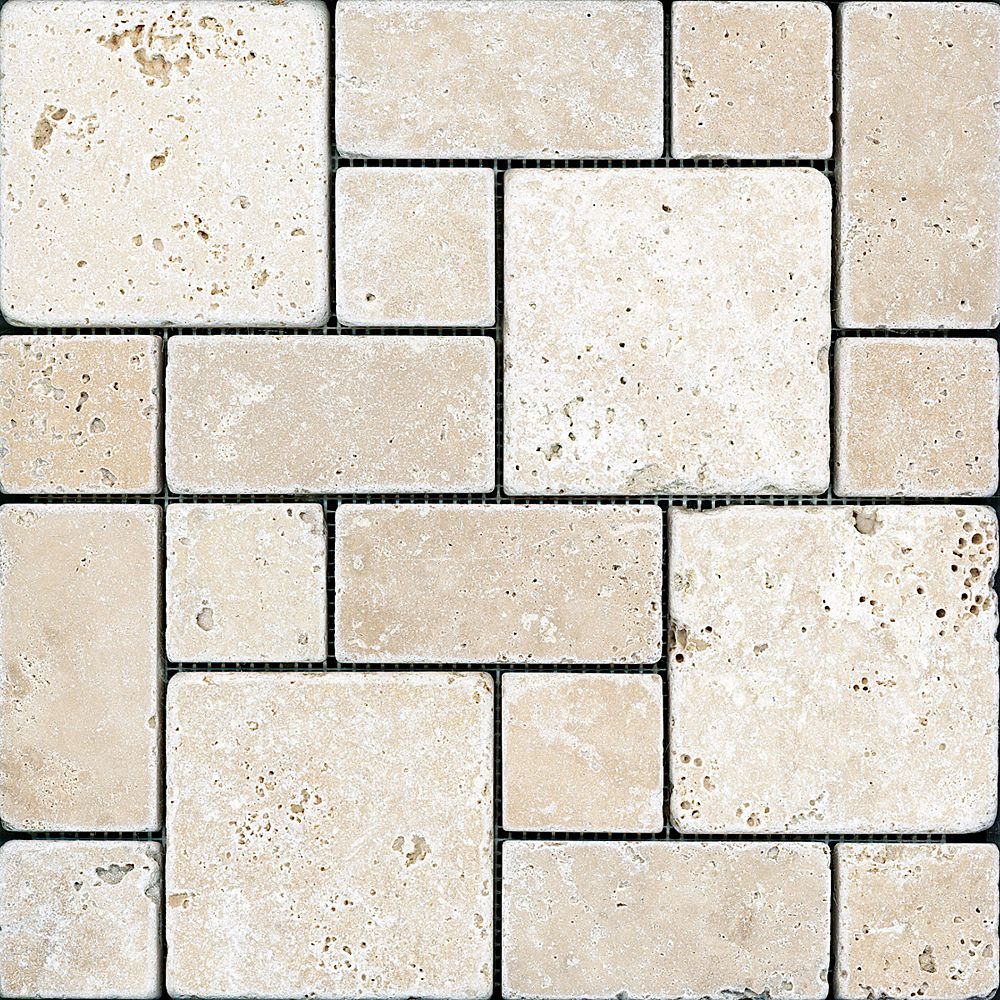 Enigma Chiaro Tuscan Pattern Tumbled Mosaic Tile