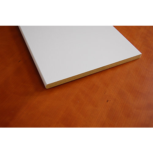 MDF Bullnosed White Shelving 5/8 Inch x 11-1/4 Inch x 96 Inch