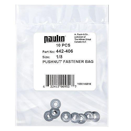 Paulin 1/8-inch Stud Pushnut Fastener Zinc Plated