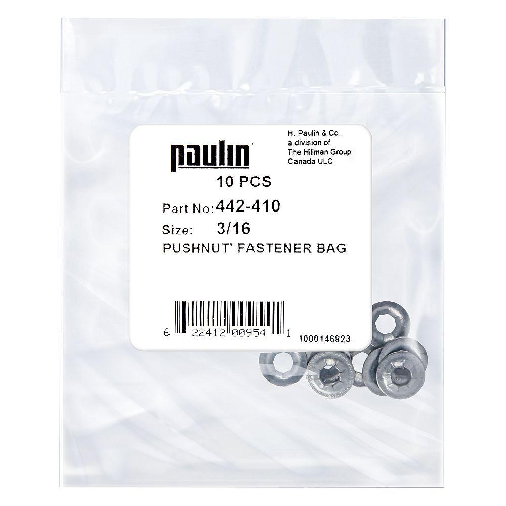 Paulin 3/16 Push Nut Fastener 10P