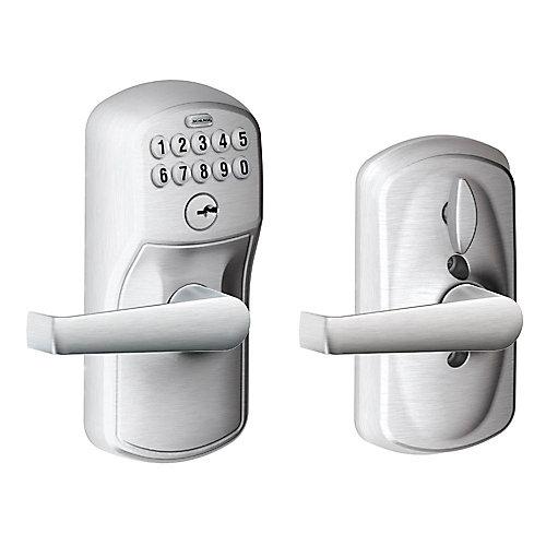 Keypad Lock Plymouth/Elan Lever Satin Chrome