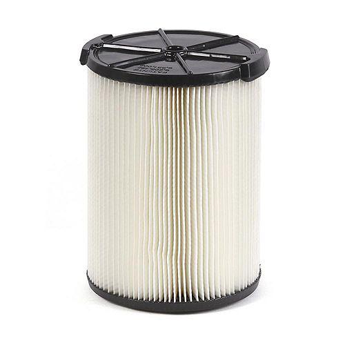 Filtre standard pour les aspirateurs sec/humide 18,9 l (5 gal.) et plus grande