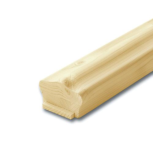 Main courante et listel standard en pin noueux 1-5/8 po x 2-5/8 po x 8 pi