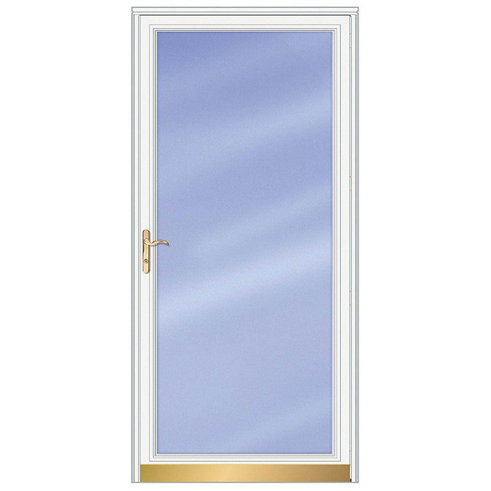 Andersen 36-inch W 3000 Series Fullview White Screen Door with Brass Hardware