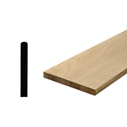 """Marche d'escalier en chêne non fini de 1 1/16"""" x 10 1/2"""" x 36"""" (placage 2-4 mm)"""