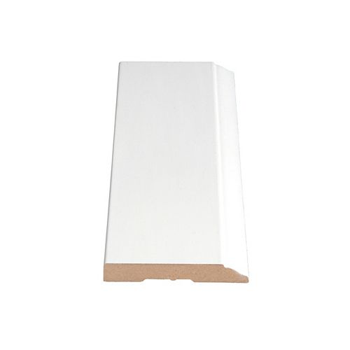 Alexandria Moulding 1/2-inch x 3 1/4-inch MDF Primed Fibreboard Baseboard Moulding