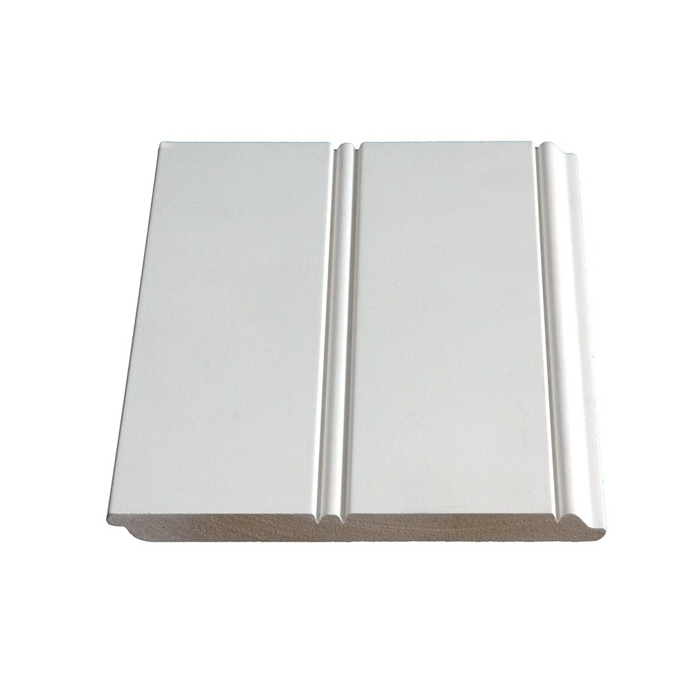 Alexandria Moulding 3/8-inch x 5 3/4-inch MDF Primed Fibreboard Wainscott Moulding