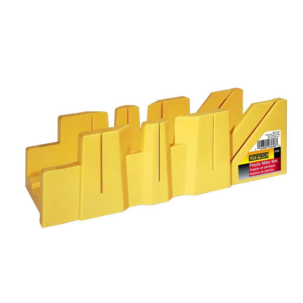 Empire Boîte à onglet en plastique jaune, 12 po