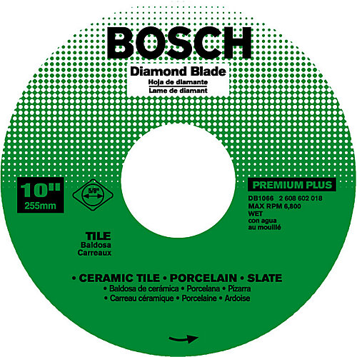 Bosch 10 In. Continuous Diamond Blade
