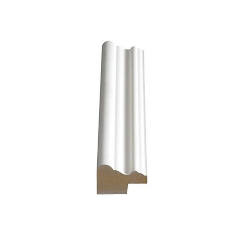 Alexandria Moulding 1 3/16-inch x 1 3/4-inch MDF Primed Fibreboard Panel Cap Moulding