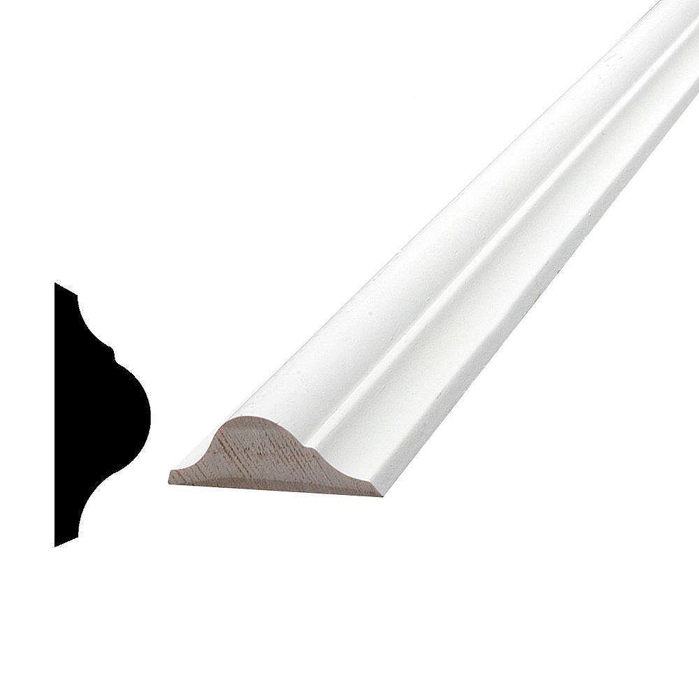Alexandria Moulding Moulure de panneau, apprêté et jointé, en pin - 9/16 x 1 9/16 (Prix par pied)