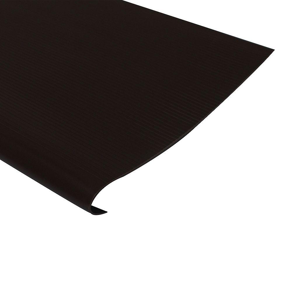 Shur Trim Vinyl Stair Treads With Nosing, Brown - 18 Inch