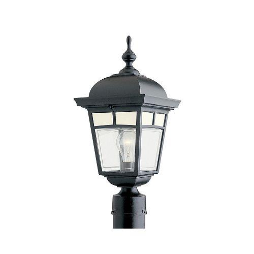Imagine, luminaire sur poteau, panneaux de verre aux motifs givrés, noir (poteau non-inclus)