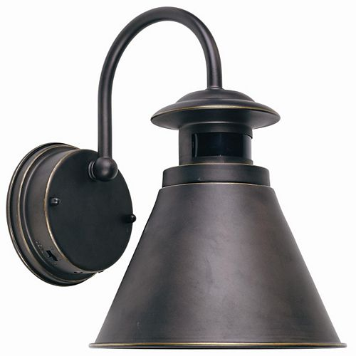 Outdoor Wall Lantern with Motion Sensor, Oil Rubbed Bronze Finish