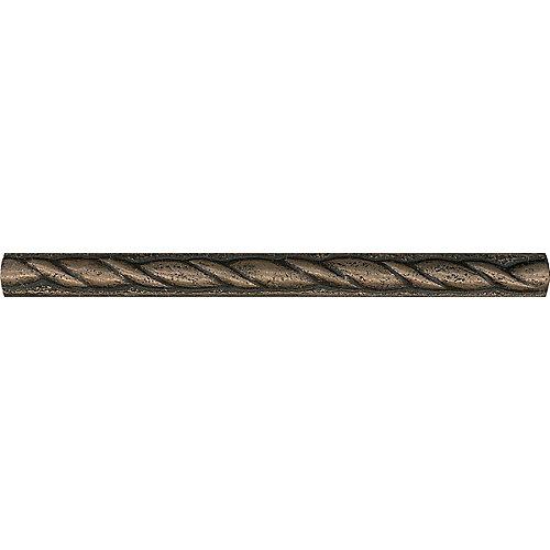 Baguette en métal bronze de ½po × 6po