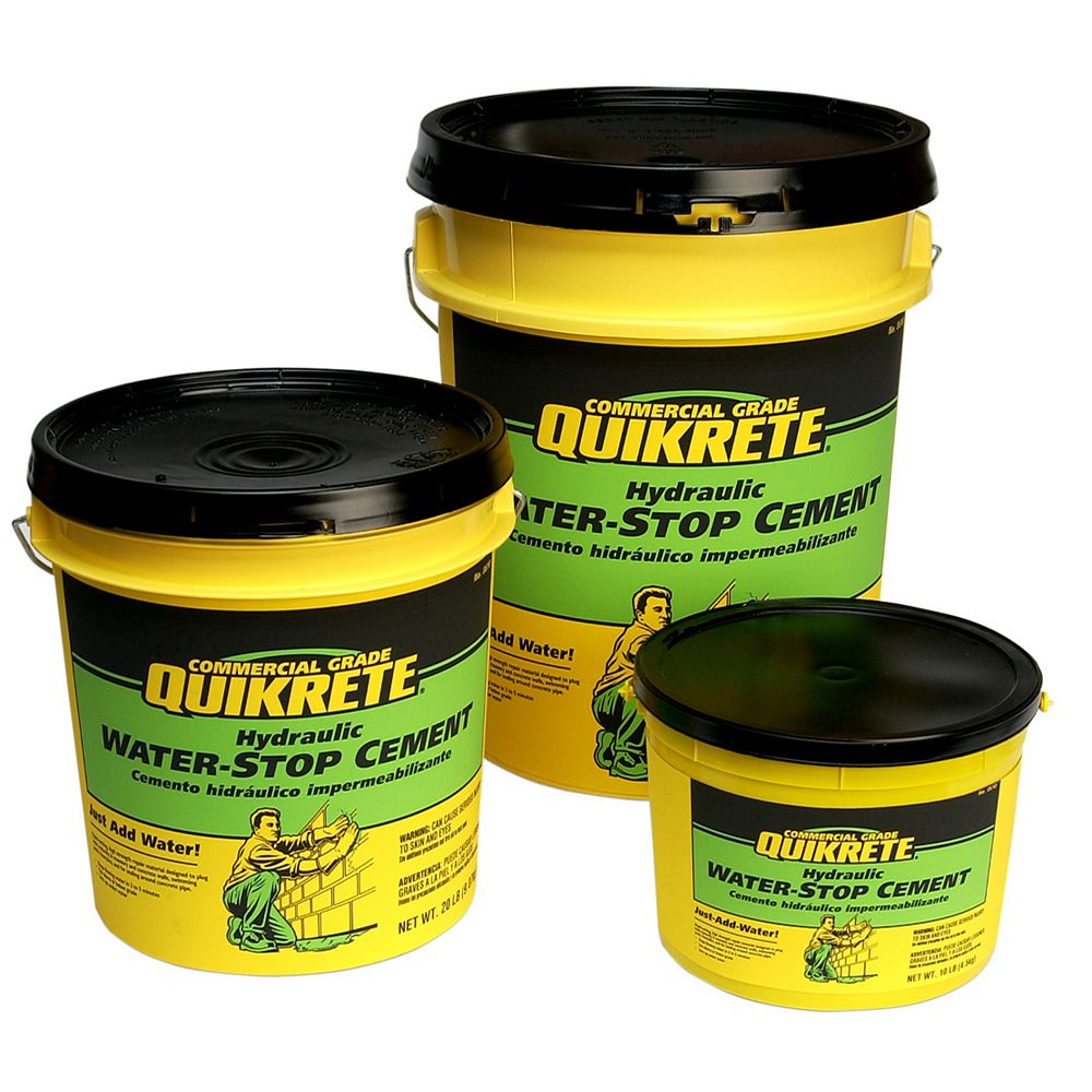 Quikrete Hydraulic Water Stop Cement 9kg The Home Depot Canada