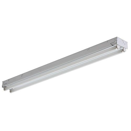 2-Light White Electronic Channel Fluorescent Strip Light