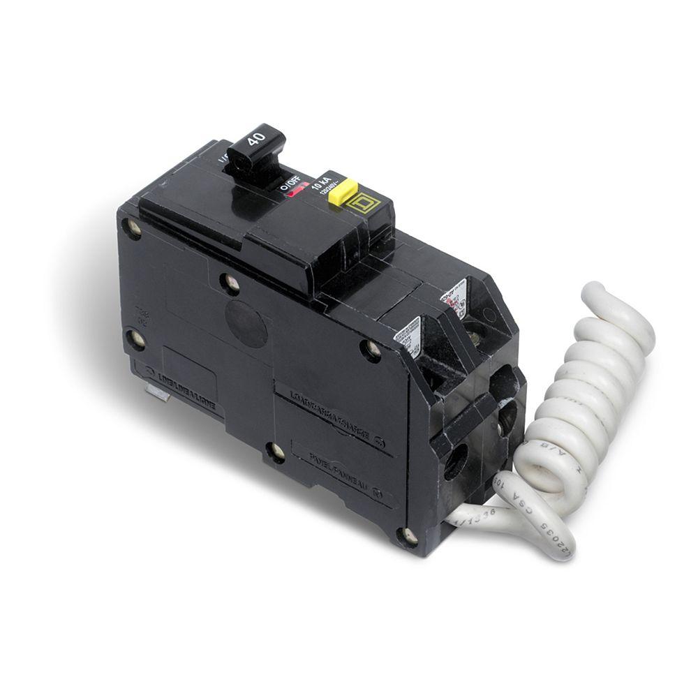 Schneider Electric - Square D Double Pole 40 Amp QO GFI ...