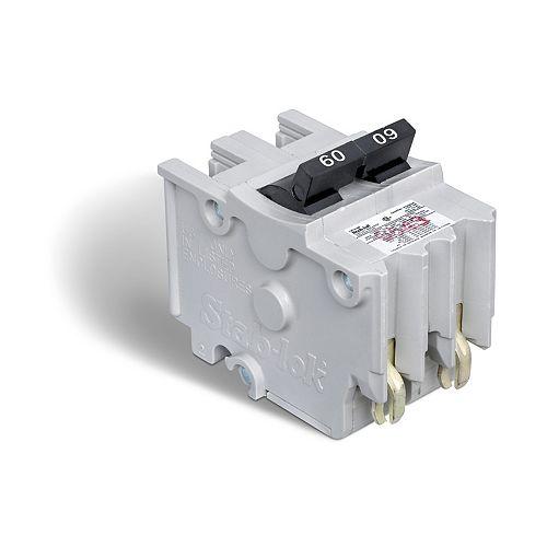 Disjoncteur enfichable (NA) Stab-lok de 60A biipolaire