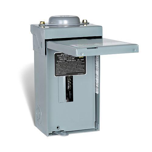 Schneider Electric - Square D 70 Amp QO Outdoor Sub Panel Loadcentre with 2 Spaces, 4 Circuits Maximum