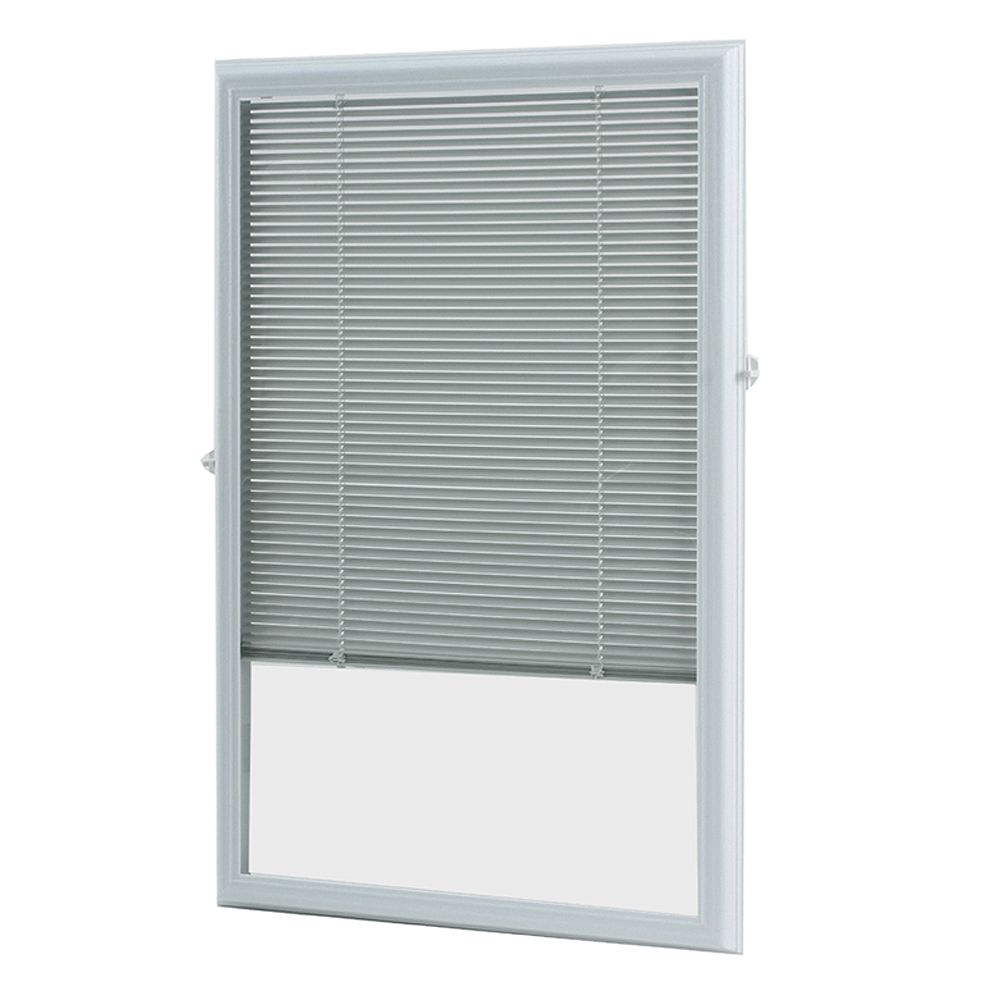 12 inch x 12 inch White Aluminum Add on Blind for Half View Doors   ENERGY  STAR®