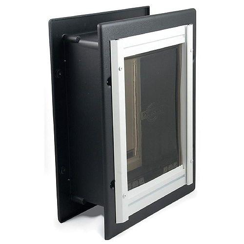 Premium Wall Entry Aluminum Pet Door Medium