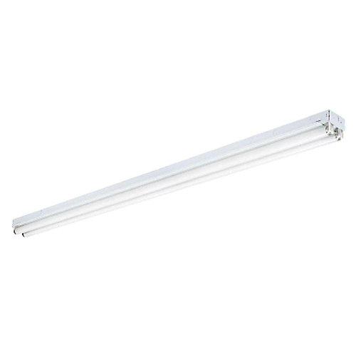 2-Light White Ceiling Commercial Strip Fluorescent Light