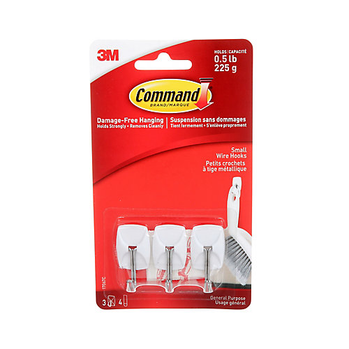Small Wire Hooks, 17067C, white