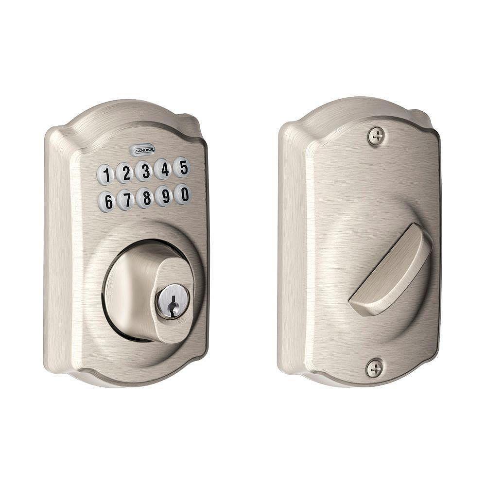 Schlage Camelot Satin Nickel Electronic Deadbolt Keyless Entry Keypad Rated AAA