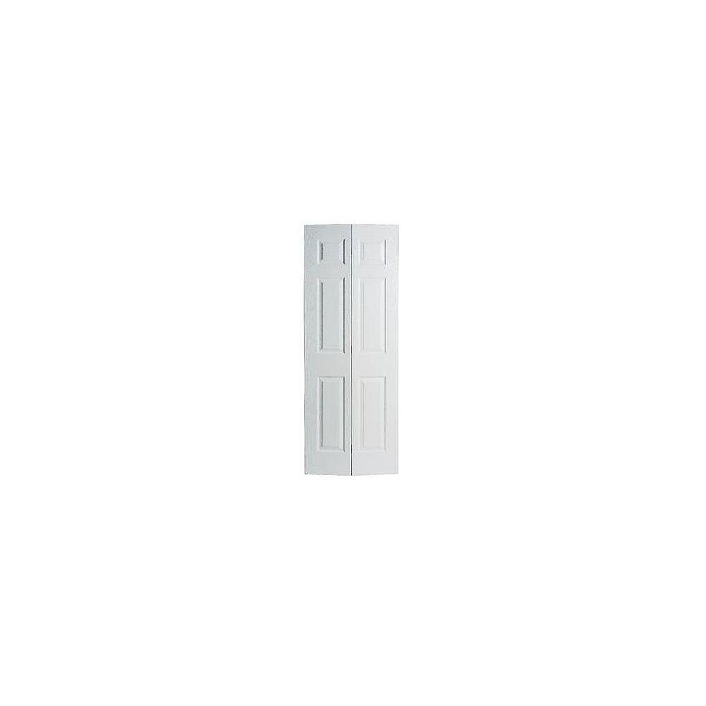 Masonite 30-inch x 78-inch 6-Panel Textured Bifold Door