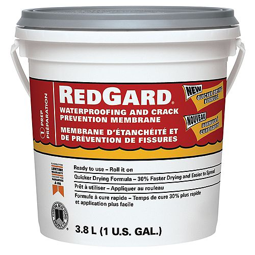 Custom Building Products RedGard Waterproofing and Crack Prevention Membrane - Gallon