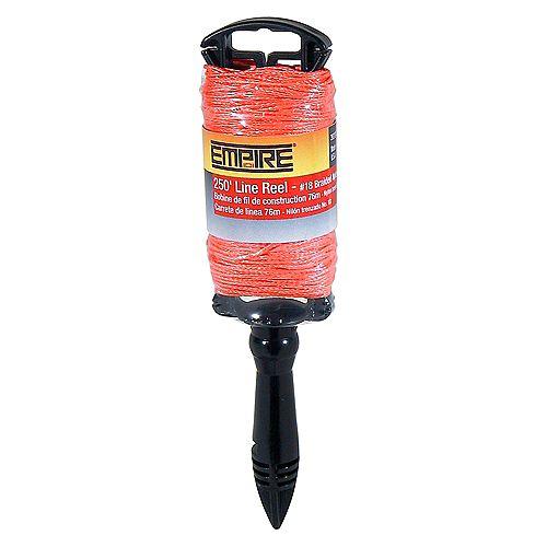 Empire Dévidoir de fil orange fluorescent tressé, 250 pi