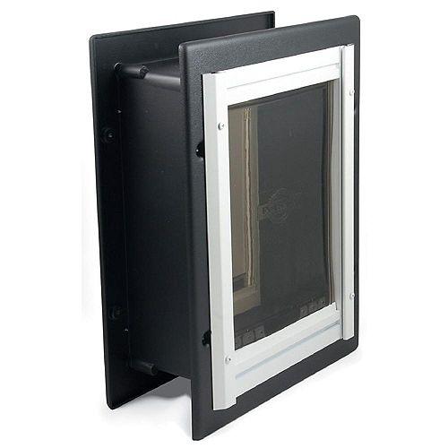 Premium Wall Entry Aluminum Pet Door Large