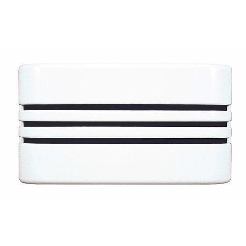 Carillon de porte câblé à boîtier linéaire décoratif blanc