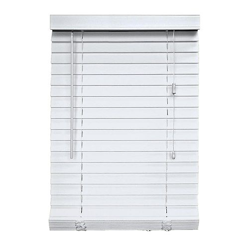 Home Decorators Collection 2-inch Faux Wood Blind White 36-inch x 48-inch
