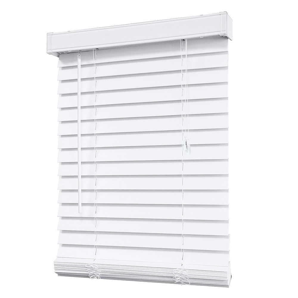 Home Decorators Collection 2 Inch Faux Wood Blind In White 72 Inch X 48 Inch The Home Depot Canada