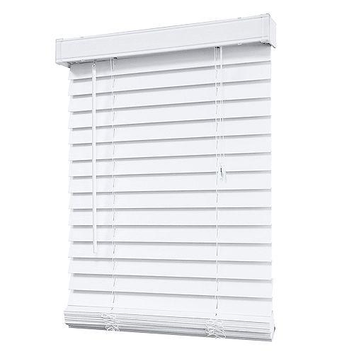 Home Decorators Collection Store en similibois de 5,08 cm (2 po), blanc – 183 cm x 122 cm (72 po x 48 po)