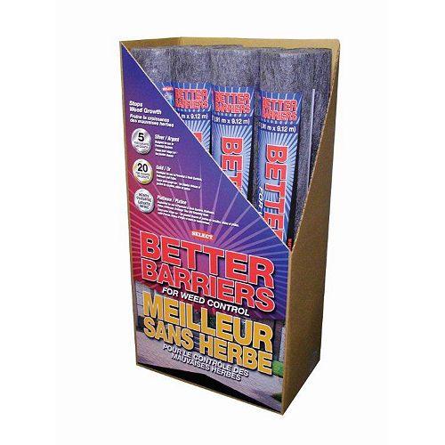 Better Barriers Platinum 400 Weed Barrier- 3 Feet x 30 Feet