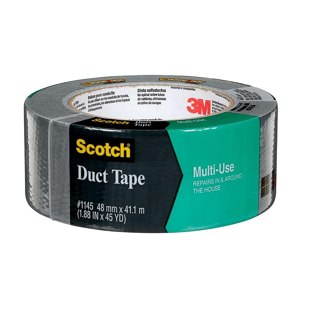 Scotch Multi-Use Duct Tape 1145-AF, Grey, 1.88 in x 45 yd (48 mm x 41 m)