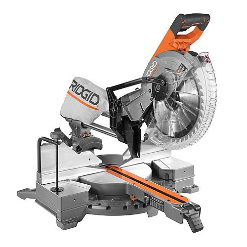 15 Amp Corded 12 inch Dual Bevel Sliding Miter Saw with 70 m Capacity