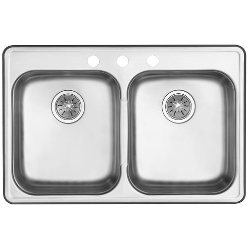 Signature Drop in Two Bowl Stainless Steel Sink