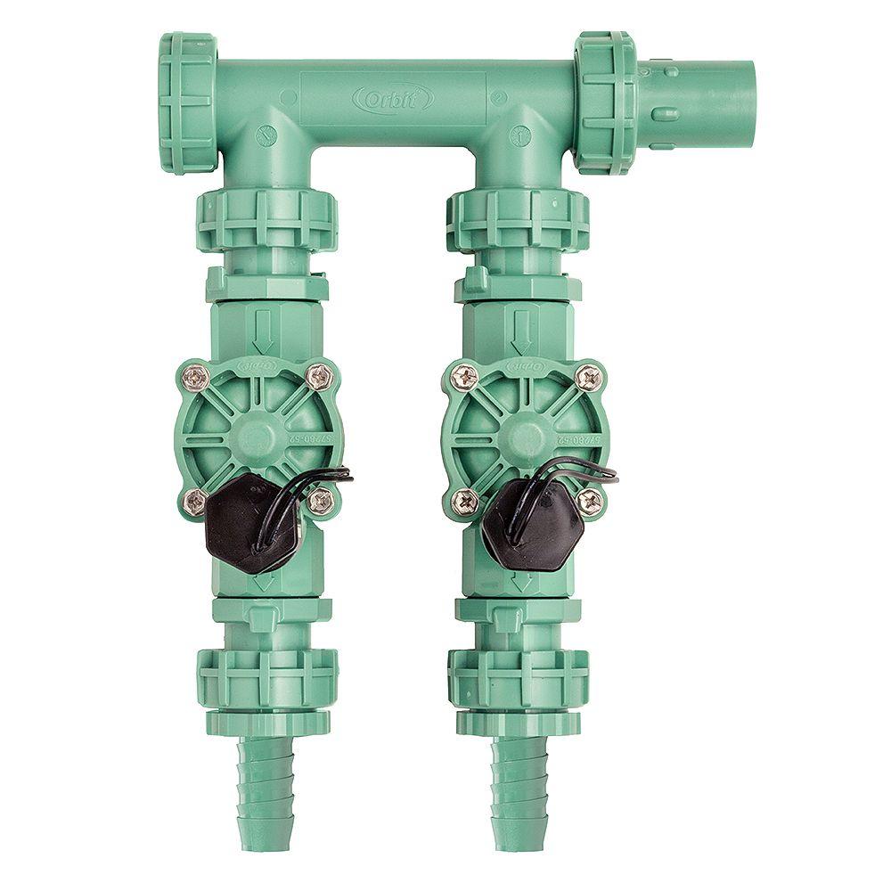 Orbit Watermaster Distributeur à 2 Valves Pré-Assemblé