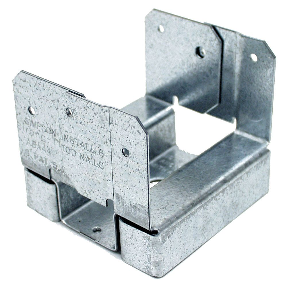 Simpson Strong-Tie ABA ZMAX Galvanized Adjustable Standoff Post Base for 4x4