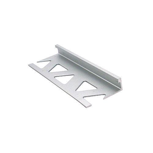Ceramic Aluminum Tile Edge, Satin Clear - 5/16 Inch (8mm)