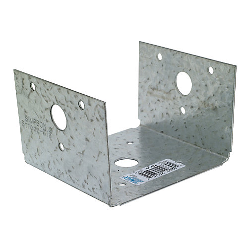 BC ZMAX Galvanized Post Base for 4x