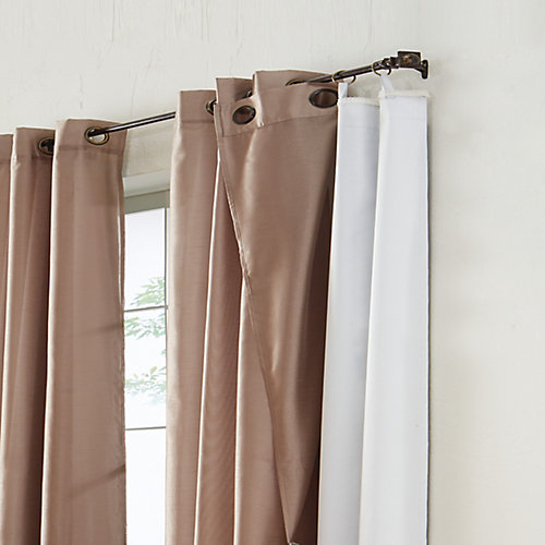 100% Blackout Curtain Liner Universal Hanging 45 inches width X 77 inches length, White