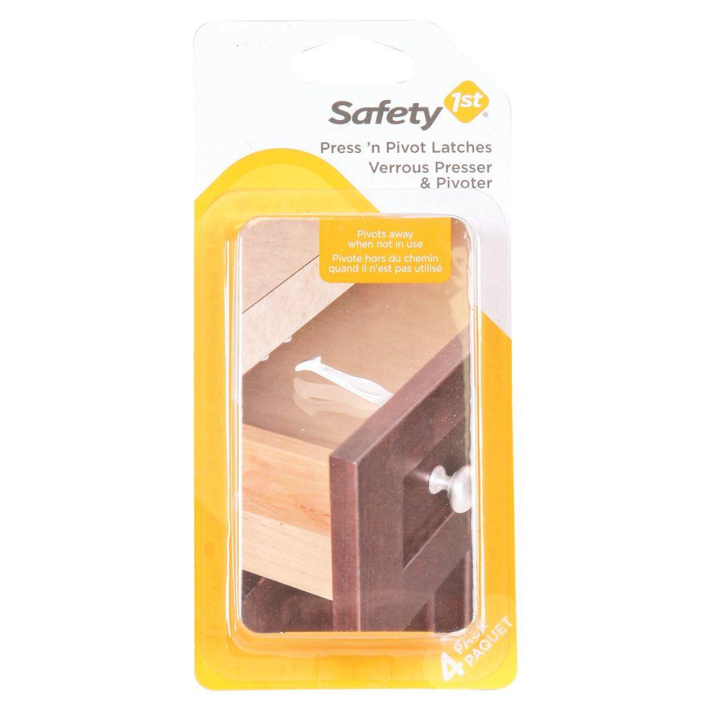Safety 1st Verrou à appuyer-et-tourner, pqt de 4