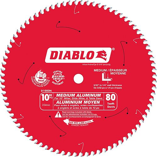 Diablo 10 In. Non-Ferrous Plastic - 80 Teeth