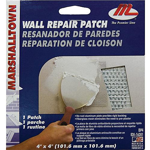 Nécessaire de réparation de cloison sèche 4 po X 4 po (10 cm x 10 cm)